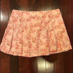 H&M Divided Travel Dog Print Pleated Skirt